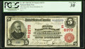 National Bank Notes:Pennsylvania, West Elizabeth, PA - $5 1902 Red Seal Fr. 587 The First NB Ch. # (E)6373 PCGS Very Fine 30.. ...