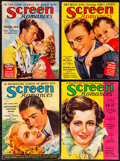 """Movie Posters:Miscellaneous, Screen Romances (Dell Publishing, 1933-1938). Fine+. Magazines (8)(Multiple Pages, Approx. 8.5"""" X 11.5""""). F. Earl Christy A...(Total: 8 Items)"""