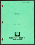 """Movie Posters:Thriller, Airport '77 (Universal, 1976). Very Fine-. First Draft Script (127 Pages, 8.5"""" X 11""""). Thriller.. ..."""