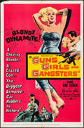"""Movie Posters:Crime, Guns, Girls and Gangsters (United Artists, 1959). Folded, Fine/Very Fine. One Sheet (27"""" X 41""""). Crime.. ..."""