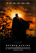 """Movie Posters:Action, Batman Begins (Warner Brothers, 2005). Rolled, Very Fine-. One Sheet (27"""" X 40"""") DS Advance. Action.. ..."""