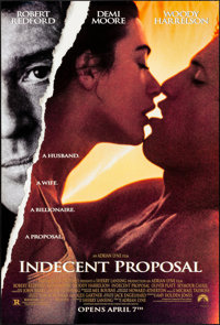 "Indecent Proposal & Others Lot (Paramount, 1993). Rolled, Very Fine. One Sheets (3) (26.75"" X 39.75"" &..."