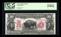 Large Size:Legal Tender Notes, Fr. 121 $10 1901 Mule Legal Tender PCGS Superb Gem New 67PPQ....