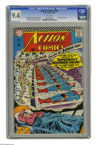 Action Comics #344 (DC, 1966) CGC NM 9.4 White pages. Batman appearance. Curt Swan and George Klein cover. Wayne Boring...