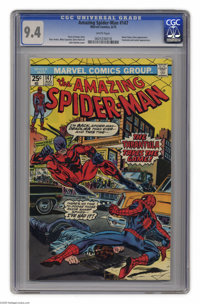 The Amazing Spider-Man #147 (Marvel, 1975) CGC NM 9.4 White pages. Spider-Man finds out that the newly returned Gwen Sta...