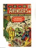 Silver Age (1956-1969):Superhero, Avengers #1 (Marvel, 1963) Condition: PR. Origin and first appearance of the Avengers. Loki appearance. Jack Kirby cover and...