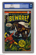 Bronze Age (1970-1979):Horror, Beware #1 (Marvel, 1973) CGC NM+ 9.6 Off-white to white pages. BillEverett cover. This is currently the highest grade assig...
