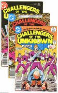 Silver Age (1956-1969):Adventure, Challengers of the Unknown #81-85 Group (DC, 1977-78) Condition: Average NM-. Five-issue lot includes #81, 82 (Swamp Thing a... (Total: 5 Comic Books Item)