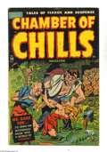 "Golden Age (1938-1955):Horror, Chamber of Chills #23 (Harvey, 1954) Condition: VG. This pre-Codehorror book doesn't hold back: ""Excessive violence; eyes t..."
