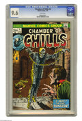 Bronze Age (1970-1979):Horror, Chamber of Chills #8 (Marvel, 1974) CGC NM+ 9.6 White pages.Overstreet 2005 NM- 9.2 value = $12. CGC census 3/05: 3 in 9.6,...