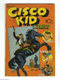 Cisco Kid Comics #1 (Baily Publication, 1944) Condition: VG+. Funnyman by John Giunta. First appearance Cisco Kid. Overs...