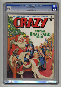 """Crazy Magazine #16 (Marvel, 1976) CGC NM+ 9.6 White pages. """"Good Times"""" TV spoof. Will Eisner's astrology guid..."""