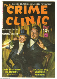 The Crime Clinic #11 (#2) (Ziff-Davis, 1951) Condition: VF. Second issue. Painted cover by Norman Saunders. Overstreet 2...