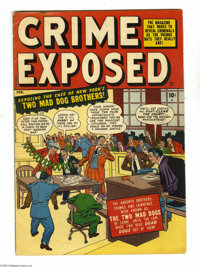 Crime Exposed #2 (Marvel, 1951) Condition: VG/FN. Myron Fass art. Overstreet 2005 VG 4.0 value = $28; FN 6.0 value = $42...
