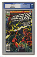 Modern Age (1980-Present):Superhero, Daredevil #168 (Marvel, 1981) CGC NM- 9.2 Off-white to white pages.Origin and first appearance of Elektra (misspelled on co...
