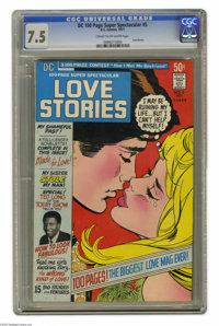 DC 100-Page Super Spectacular #5 (DC, 1971) CGC VF- 7.5 Cream to off-white pages. Love Stories. Wally Wood inks. Overstr...