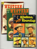 Golden Age (1938-1955):Humor, Dell Giant Comics Western Roundup Group (Dell, 1952-57) Condition: Average VG/FN. Included here are Western Roundup #1, ... (Total: 6 Comic Books Item)
