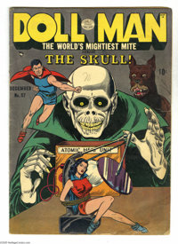 Doll Man #37 (Quality, 1951) Condition: GD/VG. Dollman and Elmo, the Wonder Dog, battle the Skull. Overstreet 2005 GD 2...