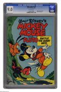 Golden Age (1938-1955):Funny Animal, Four Color #279 Mickey Mouse and Pluto Battle the Giant Ants (Dell,1950) CGC VF/NM 9.0 Off-white pages. This is currently t...