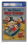 "Golden Age (1938-1955):Cartoon Character, Four Color (Series Two) #386 (Dell, 1952) CGC GD+ 386 Off-whitepages. Features Uncle Scrooge in ""Only a Poor Old Man."" Carl..."
