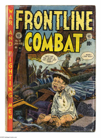 Frontline Combat #10 (EC, 1953) Condition: GD+. John Severin and Bill Elder war orphan cover. Wally Wood, George Evans...