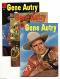 Golden Age (1938-1955):Western, Gene Autry Comics #96-110 Group (Dell, 1955-56) Condition: Average FN. Issues # 96, 97, 98, 99, 100, 101, 102, 103, 104, 105... (Total: 15 Comic Books Item)