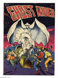 Ghost Rider #4 (Magazine Enterprises, 1951) Condition: VG+. Frank Frazetta cover. Also known as A-1 #34. Overstreet 2004...