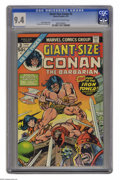 Bronze Age (1970-1979):Miscellaneous, Giant-Size Conan #3 (Marvel, 1975) CGC NM 9.4 Off-white to whitepages. Gil Kane and Tom Sutton art. Only one copy currently...