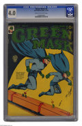 Golden Age (1938-1955):Superhero, Green Mask #4 (Fox Features Syndicate, 1941) CGC VG 4.0 Cream to off-white pages. Navy Jones begins. Overstreet 2005 VG 4.0 ...