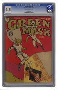 Golden Age (1938-1955):Superhero, Green Mask #5 (Fox Features Syndicate, 1941) CGC VG+ 4.5 Cream to off-white pages. Overstreet 2005 VG 4.0 value = $110. CGC ...