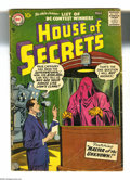 Silver Age (1956-1969):Horror, House of Secrets #4 (DC, 1957) Condition: VG-. Artists include JackKirby. Overstreet 2005 VG 4.0 value = $58....