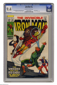 Iron Man #15 (Marvel, 1977) CGC NM 9.4 Off-white to white pages. Last 12-cent issue. George Tuska and Johnny Craig art...