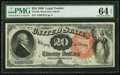 Large Size:Legal Tender Notes, Fr. 136 $20 1880 Legal Tender PMG Choice Uncirculated 64 EPQ.. ...