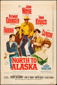 """North to Alaska (20th Century Fox, 1960). Rolled, Fine+. Poster (40"""" X 60"""") Style Y. Western"""