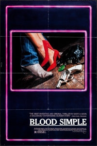 "Blood Simple (Circle Films, 1984). Folded, Very Fine-. One Sheets (2) (27"" X 41"") 2 Styles. Thriller. ... (Tot..."