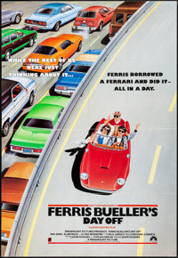 "Ferris Bueller's Day Off (Paramount, 1986). Folded, Very Fine. International One Sheet (27"" X 39.5""). A. Perki..."