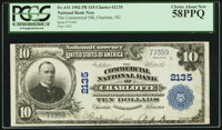 Charlotte, NC - $10 1902 Plain Back Fr. 631 The Commercial NB Ch. # 2135 PCGS Choice About New 58PPQ.</