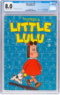 Four Color #74 Little Lulu (Dell, 1945) CGC VF 8.0 Off-white to white pages