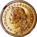 Proof Four Dollar Gold Pieces, 1879 $4 Flowing Hair, Judd-1635, Pollock-1833, R.3, PR63 Cameo NGC....