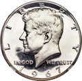 SMS Kennedy Half Dollars, 1967 50C SMS MS69 Ultra Cameo NGC....