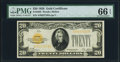 Small Size:Gold Certificates, Fr. 2402 $20 1928 Gold Certificate. PMG Gem Uncirculated 66 EPQ.. ...