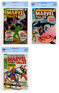 Silver Age (1956-1969):Superhero, Marvel Tales #15, 17, and 18 CBCS-Graded Group (Marvel,1968-69).... (Total: 3 Comic Books)
