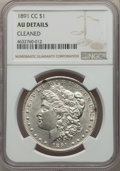 Morgan Dollars, 1891-CC $1 -- Cleaned -- NGC Details. AU. NGC Census: (72/5353). PCGS Population: (203/16371). CDN: $200 Whsle. Bid for pro...