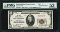 National Bank Notes:Pennsylvania, Philadelphia, PA - $20 1929 Ty. 1 The First NB Ch. # 1 PMG About Uncirculated 53.. ...