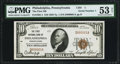 National Bank Notes:Pennsylvania, Philadelphia, PA - $10 1929 Ty. 1 The First NB Ch. # 1 PMG About Uncirculated 53 Net.. ...