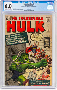 The Incredible Hulk #5 (Marvel, 1963) CGC FN 6.0 Cream to off-white pages