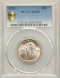 Standing Liberty Quarters: , 1923 25C MS66 PCGS Secure. PCGS Population: (335/98 and 70/9+). NGC Census: (163/45 and 7/2+). CDN: $525 Whsle. Bid for pro...