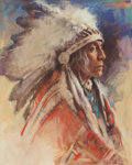 Works on Paper, Harley Brown (American, b. 1939). Eagle Calf. Pastel on paper. 23 x 18-1/2 inches (58.4 x 47.0 cm) (sight). Signed lower...