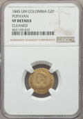 Colombia, Colombia: Nueva Granada gold 2 Pesos 1845-UM VF Details (Cleaned)NGC,...
