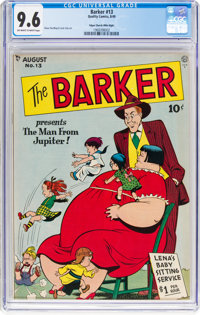 The Barker #13 Mile High Pedigree (Quality, 1949) CGC NM+ 9.6 Off-white to white pages